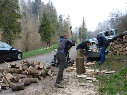 """Hands-on"" am 17. April 2021 - Feuerstelle Helfenberg"